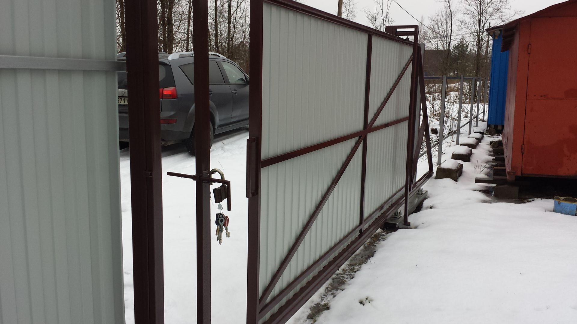 Как сделать откатные ворота. - Дом и стройка - Статьи - FORUMHOUSE 98